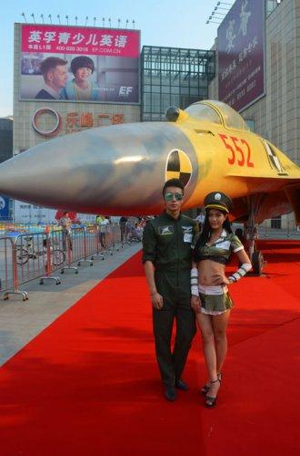歼15战斗机11全尺寸模型展